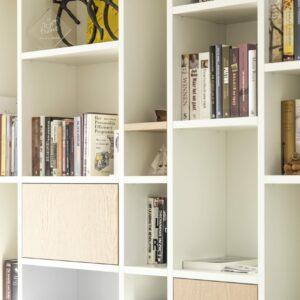 HUS interieur eikfineer boekenkast op maat detail