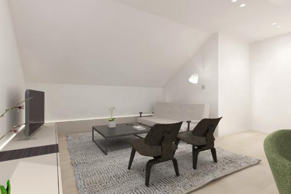 Zolderverdieping inrichten_Tv hoek-Hus Interieur